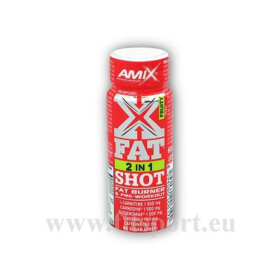 X-Fat 2 in 1 Shot ampule 60ml akce-fruity