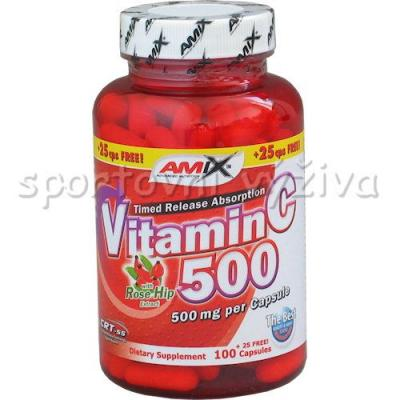 Vitamin C 500mg + Rose Hips 125 kapslí