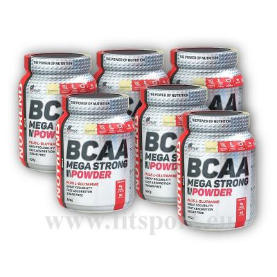 5x BCAA Mega Strong Powder 500g + 1 x